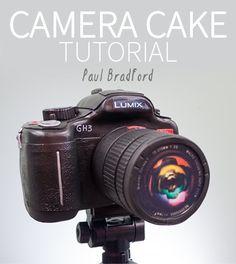 Camera Cake - Online Cake Decorating Tutorials - Food and drink Cake Decorating Courses, Cake Decorating Tutorials, Pictures Of Cameras, Camera Cakes, Cake Online, Different Cakes, Sweets Cake, Sugar Craft, Cake Tutorial