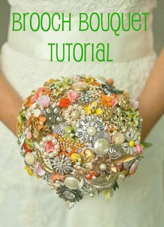 I would like to make this just to make it.  No wedding involved!  Stunning Brooch Bouquet! | Planting Sequoias