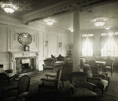 The Reading Room on the Titanic