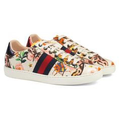 fde2b8ec972 Gucci Garden Exclusive Ace Sneaker ( 595) ❤ liked on Polyvore featuring  shoes