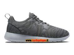 Nike Roshe One/Run Knit Jacquard GS - Chaussures Nike Sportswear Pas Cher Pour Femme/Enfant Gris loup/Gris fonce 705217-001