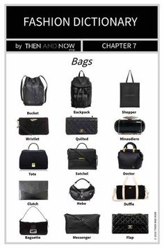 Fashion Dictionary - Types of Bags - THEN AND NOW SHOP