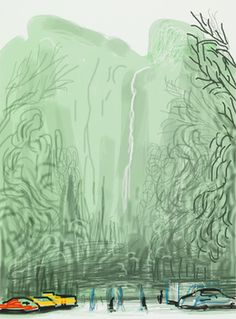 """David Hockney, '""""Untitled No.13"""" from """"The Yosemite Suite"""",' 2010, Pace Gallery"""