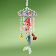 Disney Christmas Tree Flounder Sebastian Ariel Little Mermaid Mobile Ornament | eBay