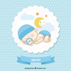 Tarjeta de bebé Vector Gratis