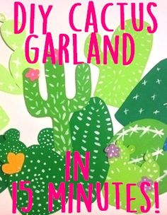 With just a few supplies and 15 minutes you can make an adorable cacti garland. It's great for channeling the south west in any room of your home! Wait till you see the finished product! Staywithmeonthis.com