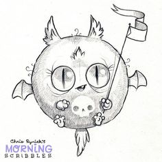 Round-bat! 💀🎃#morningscribbles