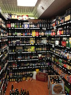 John's Grocery in Iowa City, IA, amazing beer and cheese selection