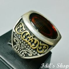 Authentic Turkish Ottoman Style Handmade 925 Sterling Silver Ring by Idil's Shop, $135.00