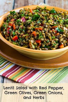 ... Lentils on Pinterest | Lentil salad, Black rice and Red bell peppers