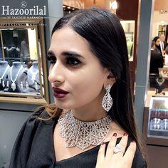 Dazzling in diamonds from the House of #HazoorilalBySandeepNarang #HazoorilalEvents #JewelleryArabia2016 #Bahrain #Manama #JewelleryShows #ItcMaurya #DlfEmporio #HazoorilalJewellersGK #Hazoorilal