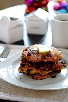 what the whaaaat?! choco chip oatmeal cookie pancakes