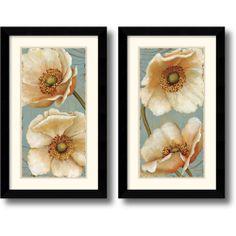 Daphne Brissonnet 'Windflower' Framed Art Print Set   Overstock.com