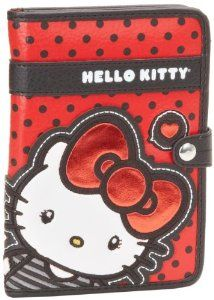 Loungefly Hello Kitty RED with Black Dots and BIG BOW Passport Case and Wallet by Hello Kitty. $23.99