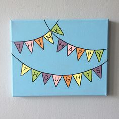Diy Canvas Art 13290 Your place to buy and sell all things handmade Simple Canvas Paintings, Easy Canvas Art, Small Canvas Art, Easy Canvas Painting, Mini Canvas Art, Cute Paintings, Diy Painting, Paintings With Quotes, College Canvas Paintings