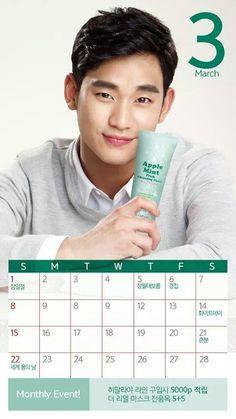 nice Actor Kim Soo Hyun in March Calendar for Beyond CF