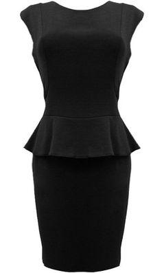 Peplum Power Dress - Stunning!