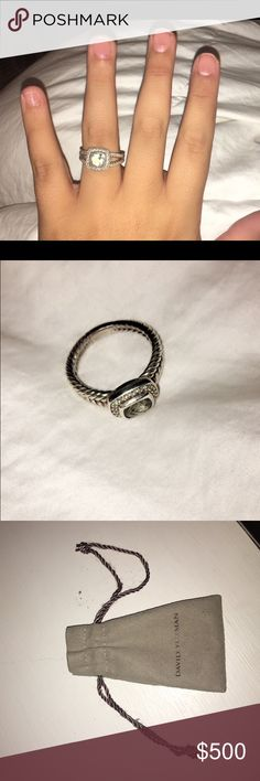 David Yurman ring AUTHENTIC. Size 8! No scratches! Comes with dust bag! The last photo is the exact ring, color and where I ordered it from (Nordstrom) 💛 I am willing to take offers! Please only ask to trade if the price matches!!! Happy shopping! David Yurman Jewelry Rings
