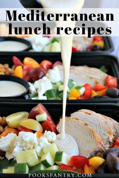 Mediterranean lunch recipes are perfect for those looking for delicious lunches that are also full of nutritious food that is good for you. #mediterraneanrecipes #mediterraneandietrecipes #mediterraneanlunch #lunchrecipes #pookspantry Vegan Meal Plans, Healthy Meal Prep, Healthy Eating, Clean Eating, Easy Mediterranean Recipes, Mediterranean Chicken, Mediterranean Breakfast, Lunch Recipes, Easy Dinner Recipes