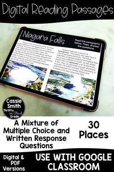High interest reading passages to use with Google Classroom that cover 30 amazing places around the world. Your students will love learning about all of these locations! Reading Lesson Plans, Reading Lessons, Guided Math, Guided Reading, Third Grade Reading, 4th Grade Classroom, Reading Passages, Google Classroom, Writing Inspiration