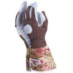 useful working gloves for the gardener by garden girl of sweden featuring leather palms