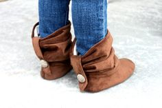 Toddler Boots Soft Soled Button Up Slouch Boots by BitsyBlossom, $52.00