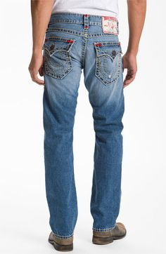 True Religion Brand Jeans 'Earthworm' Straight Leg Jeans (Conductor) available at #Nordstrom
