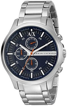 166a1437932 Men Watches - Armani Exchange Mens AX2155 Silver Watch   You can find more  details by