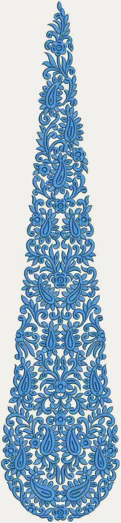 Siaan kleur borduurwerk blomme Patch