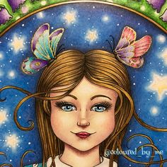 Ivy and the Inky Butterfly Coloring Book Art, Colouring Pages, Adult Coloring, Johanna Basford Books, Johanna Basford Coloring Book, Color Club, Pencil And Paper, Polychromos, Gold Ink