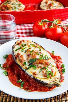 Delicious Eggplant Parmesan Boats