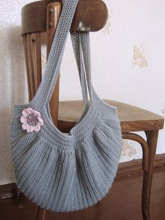 """Crochet Fat Bag. I usually don't like romantic stuff but this bag is cute but not """"sugary"""""""