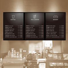 비즈프린트 Menu Board Design, Cafe Menu Design, Small Cafe Design, Restaurant Interior Design, Coffee Shop Menu, Small Coffee Shop, Coffee Shop Design, Coffee Cafe, Cafe Shop