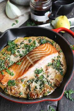 Healthy Dinner Recipes, Appetizer Recipes, Real Food Recipes, Cooking Recipes, Salmon Dishes, Fish Dishes, Fish And Meat, Fish And Seafood, Happy Foods