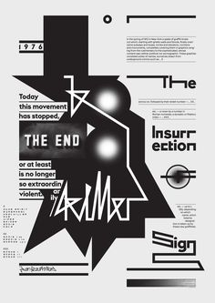 Creative use of black and white typography!