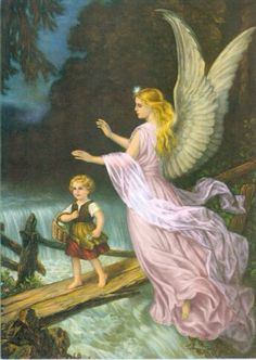 Angels protecting children
