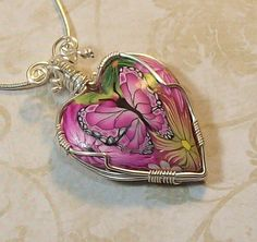 By His Grace   Shades of Pink Polymer Clay Heart Shaped by BHGI, $32.95