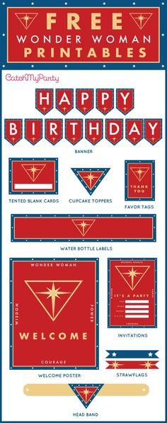 Free Wonder Woman Birthday Party Printables | The Catch My Party Blog | Bloglovin'