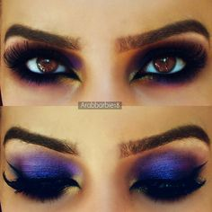 Sexy Purple Arabic Makeup look