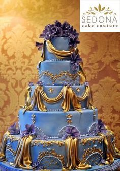 Cinderella's Wedding Cake in Sedona! by Andrea Carusetta of Sedona Cake Couture.  ... @theweddingproje The Wedding Project NYC
