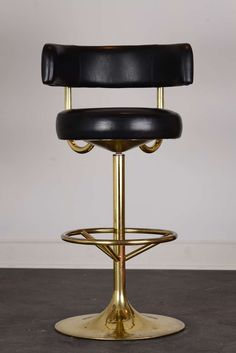 Brass Swivel Vintage Bar Stools...that would compliment my two vintage brass bar stools!