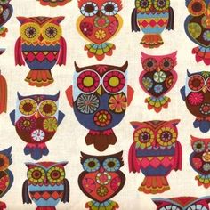 Retro owl pattern