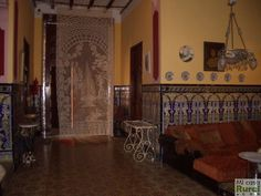 Patio Interior, Bed, Furniture, Home Decor, Courtyards, Traditional Homes, Event Organization, Flooring, Tiles