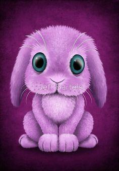 Cute Purple Baby Bunny Rabbit | Jeff Bartels