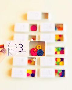 """Lehrerin ✨ auf Instagram: """"Eine Idee wie man ganz einfach Anschauungsmaterial zu den Zahlen 1-10 erstellt. Einfach die Zahlen auf Etiketten drucken, auf…"""" School, Diy, Instagram, Numbers 1 10, Learning Games, Math Resources, First Grade, Studying, Bricolage"""