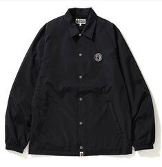 BAPE ATS COACHES JACKET BLACK. #bape #cloth Bape, Coaching, Street Wear, Shirt Dress, Mens Fashion, Mens Tops, Jackets, Shirts, Clothes