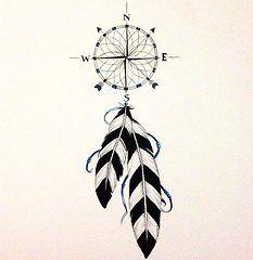 Compass Dreamcatcher  by Katrina Botell