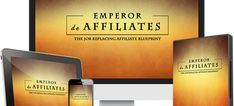 Emperor de Affiliates Review: Secrets of a paid-traffic-hating affiliate marketer revealed! Emperor de Affiliates is the first COMPLETE affiliate marketing video & PDF training course that shows you the EXACT processes and methods and gives you the same tools and resources that the authors have been using to earn between $100-$1000+/day promoting digital products.