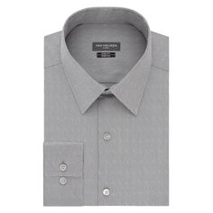 Men's Van Heusen Slim-Fit Flex Collar Stretch Dress Shirt, Size: 15.5-34/35, Grey Other
