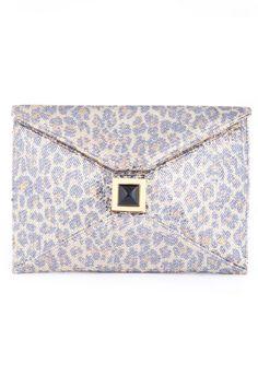 Kara Ross leopard clutch $35